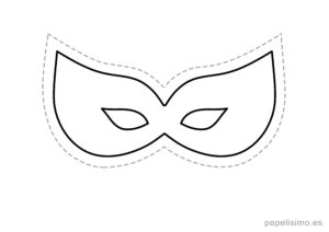 5 máscaras de goma eva para recortar DISFRAZ niños