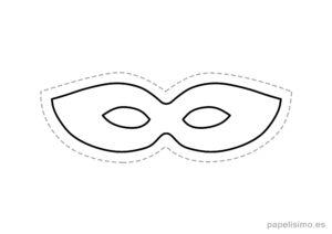 7 máscaras de goma eva para recortar SUPER HEROE niños