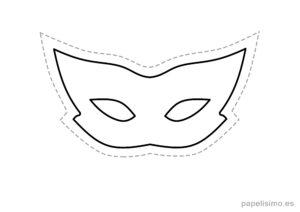 8 máscaras de goma eva para recortar DISFRAZ niños