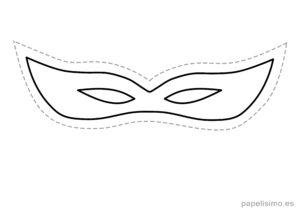 9 máscaras de goma eva para recortar DISFRAZ niños