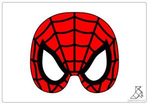 Máscar-de-Spiderman-para-imprimir-color-mask-template