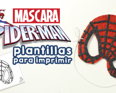 Máscara de Spider-Man con plantillas para imprimir niños